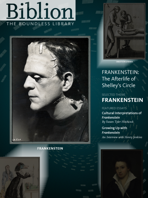 Read Frankenstein like you've never read or explored it before in our new free iPad app, which is now ALIVE, er, live. Check out the web component or download the app here. The second edition of Biblion (which follows last year's World's Fair app, named one of Apple's top education apps for iPad for 2011) is focused onFrankenstein and other works by the Shelleys and their circle. It features digitized original documents (such as the original Frankenstein manuscript, which you can compare to the version we all know now, a book of Percy Shelley's poetry, and much, much more), original essays by students, staff, scholars and others on topics related toFrankenstein, and an Ask Biblion feature that allows users to answer questions and see answers from others. There's a lot to explore, so download it and start!