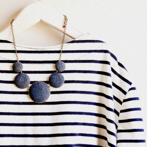 The Denim Necklace by Nest Pretty Things