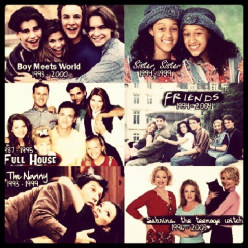 Definitely miss all of this :) #boymeetsworld #sistersister #friends #thenanny #fullhouse #sabrinatheteenagewitch (Taken with instagram)