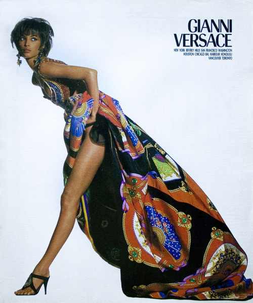 Christy T. for Versace