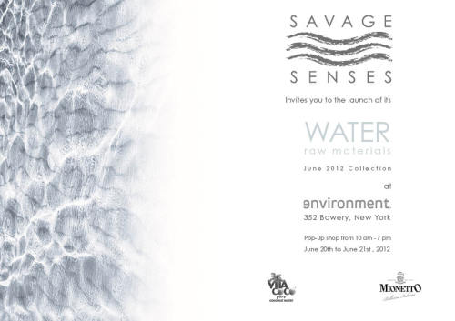 "We invite you join us on June 20th and 21st for the launch of our ""Water: Raw Materials"" collection! You will be able to browse and buy our wares at Environment Furniture's showroom (at 352 Bowery, NYC) from 10am to 7pm on both days.  As always, 10% of sales go to Wine to Water, a non-profit organization that works on providing clean water access to people in need of it around the world. We can't wait to show you the new products in this water-inspired collection, and we hope you to see you there!"