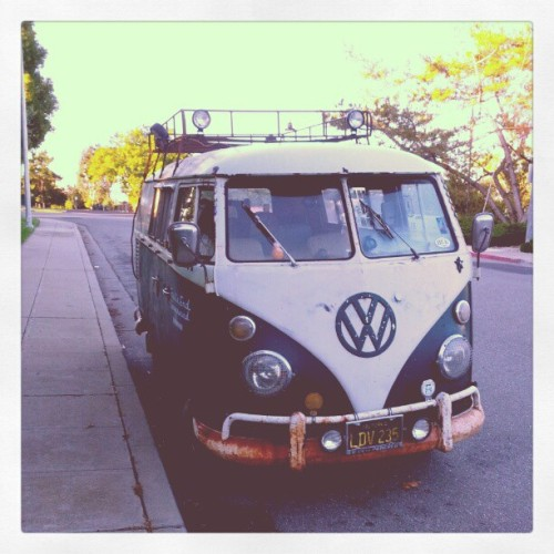 coffeeandcatnaps:  Commute time! #vw #volkswagen #bus (Taken with instagram)