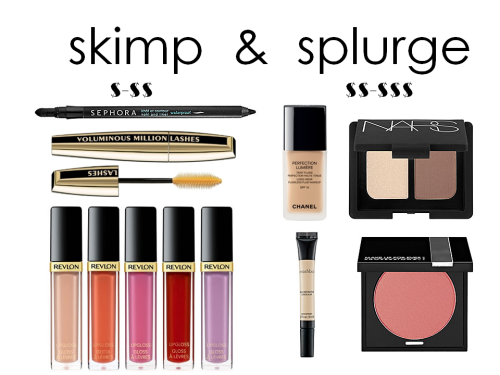 City Girl Logic: Where to skimp and splurge with beauty products? Here is a helpful guide. Something to keep in mind when shopping for beauty products is the shelf life. Mascaras should be replaced every 3-6 months, and  lip glosses should not be kept over 1 year. On the other hand, powder blush and eyeshadow can last up to 2 years. **Expert tip: if it smells strange, or the color is off, throw it away. No need to take a chance! My philosophy is, spend the least amount of money on the items you replace most frequently— eyeliner, mascara, lipstick/ gloss— and spend the most money on the items you use over a longer period to ensure you get the best quality and payoff. I cannot stress enough how important it is to splurge on your skincare, foundation, concealer, and powders— especially if you have skin concerns of aging, acne, or sensitivity. If you skimp on everything else, you can try new beauty trends without breaking the bank.