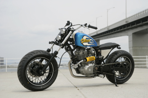 garageprojectmotorcycles:  A Suzuki VanVan 200 customised by A Beard Even in Stock condition they look sorta cool…I said sorta  A Beard have gone all out on the VanVan and created a ride that would turn a statue's head.     Like us on FB  This is an insane build…