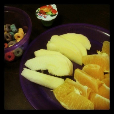 Breaky for baby ;) (Taken with instagram)