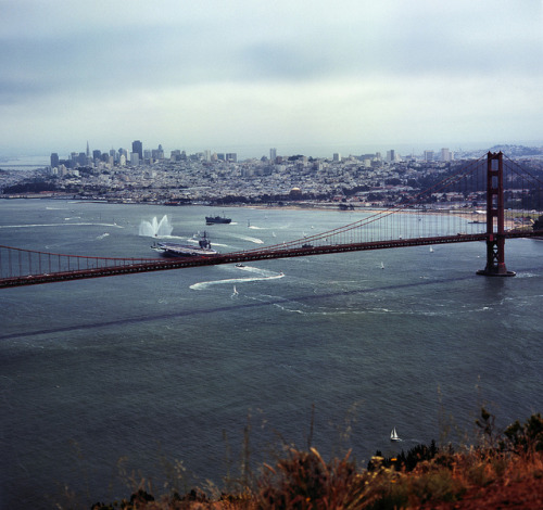 hasselblads:  U.S.S. Nimitz - 75th Anniversary of the Golden Gate Bridge by Rodney A. Johnson on Flickr.