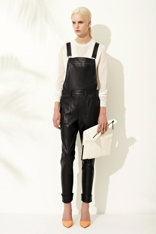 Never thought I'd want leather dungarees!
