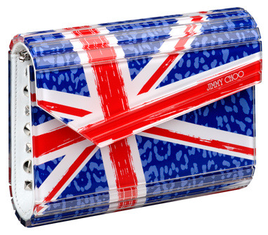 The Diamond Jubilee may have come and gone but, British accessories house Jimmy Choo has brought out a line of Union Jack accessories.  This Candy clutch is a fave.
