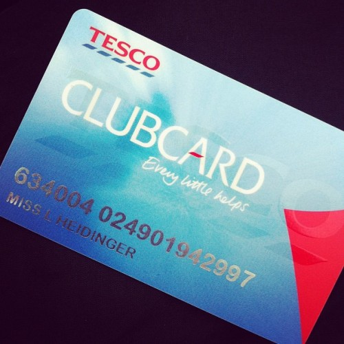 I'm a grown up! #tesco #clubcard #eeek (Taken with instagram)