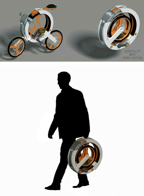 Donut Folding Bicycle by Arvind M | Design | Gear