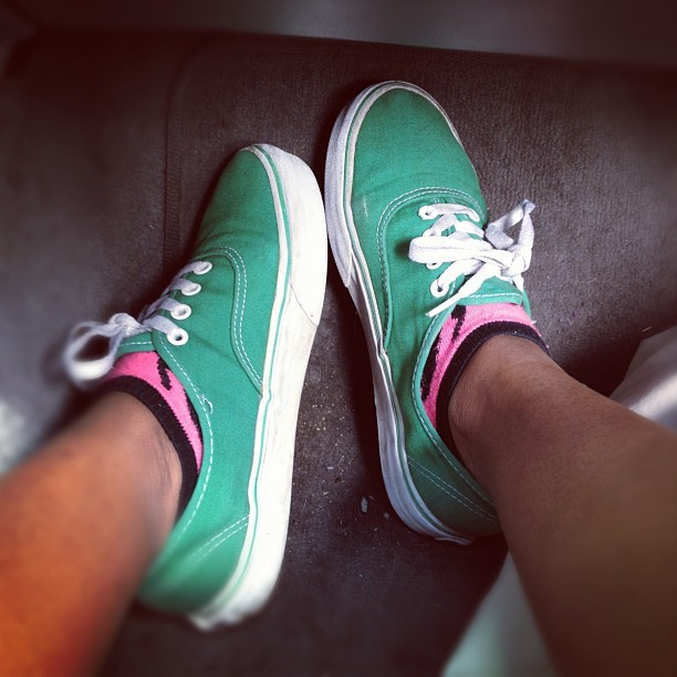 Rocking watermelon colors today.  (Taken with instagram)