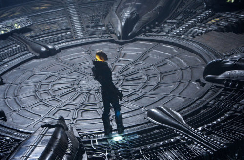 "Michael Fassbender in ""Prometheus."" (Large photo) Review: Something Wicked Their Way Comes, via the Galactic Void Slideshow: The Design of 'Prometheus'"