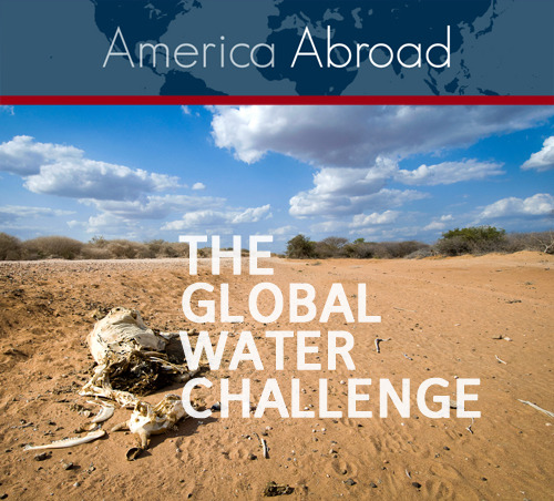 "This month on PRI Public Radio International's America Abroad: ""The Global Water Challenge"" The demand for water continues to grow as global population does. Yet less than one percent of the planet's supply is potable, and estimates suggest that 40% of humanity will not have access to clean water by 2025. We explore the complex issues surrounding this precious resource in Yemen, Australia, Turkey and more! Full episode up NOW http://bit.ly/KeDU8l"