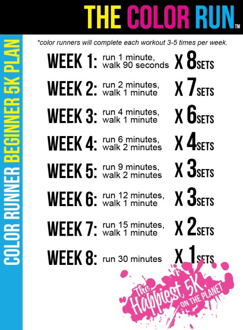 Awesome workout plan from the folks at Color Run!
