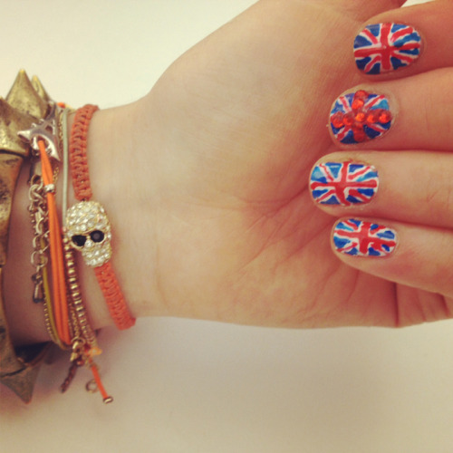 Can you tell our super intern Cece just got back from London? (Here's a cool tutorial if you want to give your nails the Union Jack treatment too.)
