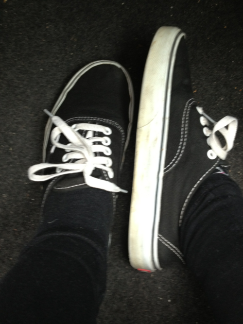 Out with my black shoes!❤