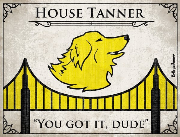 collegehumor:  Game of Thrones House Sigils for Other TV Families