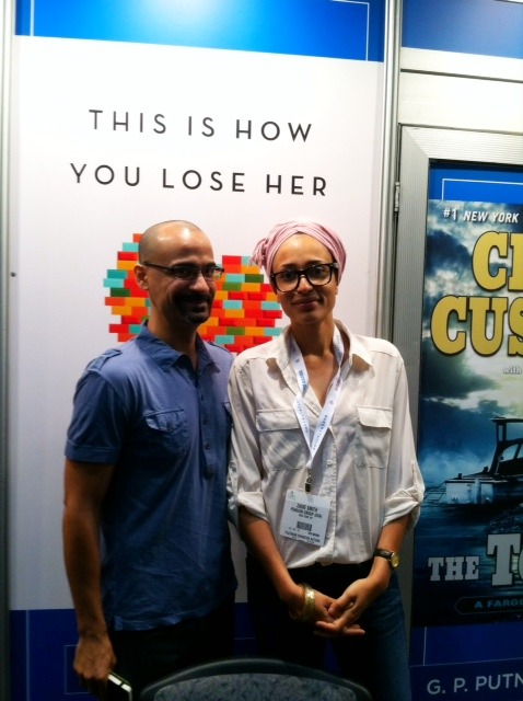 thepenguinpress:  Junot Diaz and Zadie Smith at BookExpo America. That's a lot of talent in one photograph, wouldn't you say?   HOW DID I MISS THIS