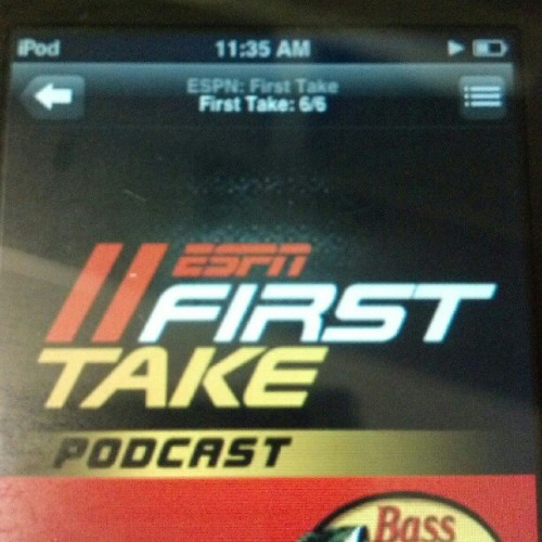 My #iPod battery life stinks used 2b good listening to #ESPN all day #FirstTake #SVP #BSReport #ColinCowherd n the battery drained after 2+ hrs really  (Taken with instagram)