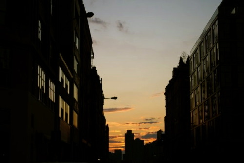 Sunset in NYC, near Meat Packing District, 2009