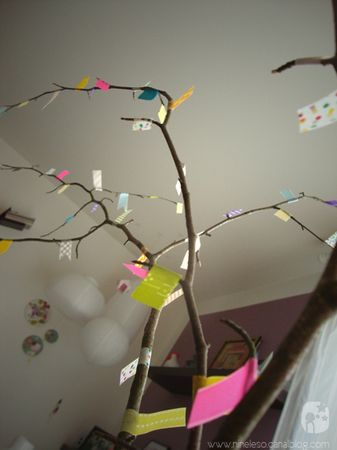 Washi Tape Deco Tree via Nine et Les O