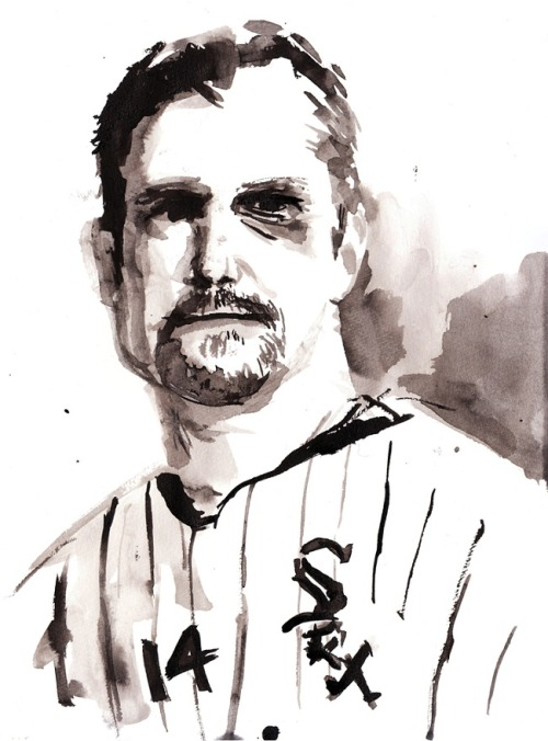 "Paul Konerko as seen by Samarov, from ""On Paul Konerko and South-Sidedness"" by T.S. Flynn"