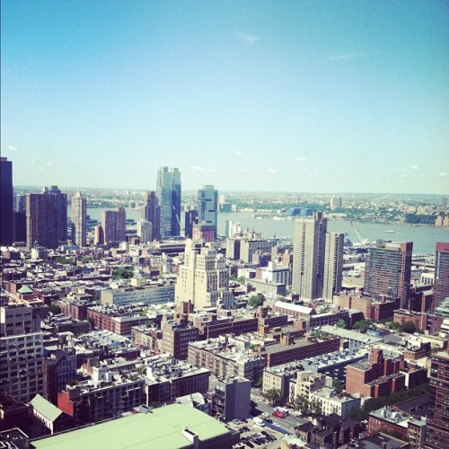 marieclairemag:  The view from here. (Taken with Instagram at Hearst Tower)