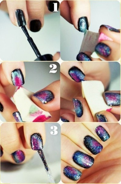 DIY galaxy nails. More in Blog. weheardit.com