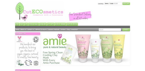 CutECOsmetics I came across this website a few weeks ago on Twitter (not sure how exactly, I think someone RT or mentioned them!) and I think it's just such a great concept. Basically they are called cutecosmetics, but with emphasis on the 'eco' in the middle which I think is so clever!  They specialise in supplying cruelty free, organic and vegan beauty products.  So they have done the hard work for you!  All the brands on the website are cruelty free, and then it is indicated if they are also organic, vegan or both.  You can choose to shop only vegan or organic products too if you want to only view items which fall into these catagories. Some of more well known brands they carry are Butter London, Barry M, Ecotools and Obsessive Compulsive Cosmetics, then they are also lots of other ones I haven't heard of!  I haven't actually bought anything from them yet but I am really looking forward to getting some bits to try out (not til next month though as I seem to have spent my wage already!  Whoops!) especially as it's free UK delivery!  I really grudge paying delivery even though < £3 is perfectly acceptable, I'm just a big cheapskate, so I love that it's free! Here is a link to their website CutECOsmetics it's just adorable!  They also have a blog too, link here. <3