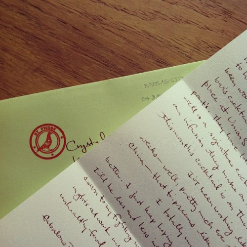 I love mail.  (Taken with instagram)