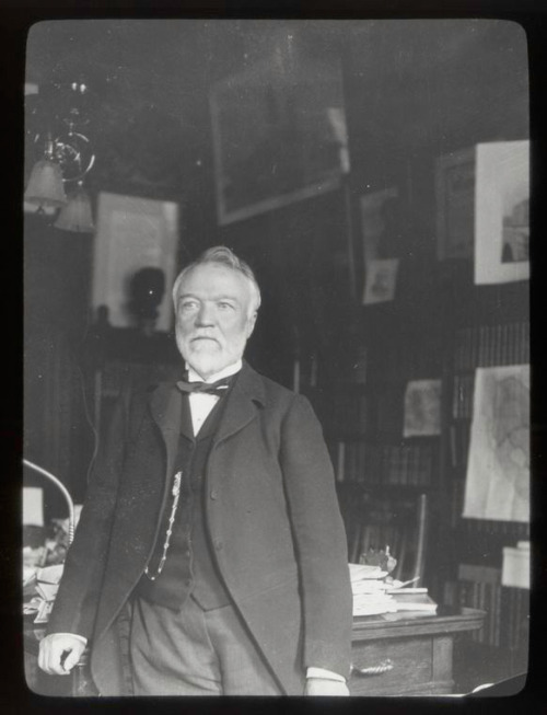 Our illustrious benefactor, Andrew Carnegie. Happy Mustache Monday!