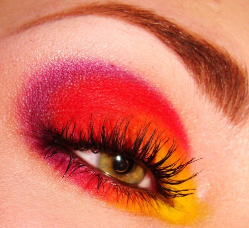 using Sugarpill's 'Burning Heart' palette