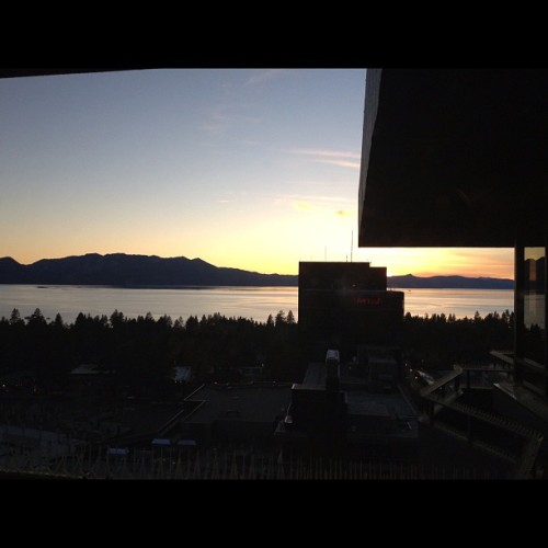 Another shot from last night. #sunset #laketahoe #ilovemylife #mountains #nature #lake #nofilter  (Taken with Instagram at Harrah's Lake Tahoe Resort & Casino)
