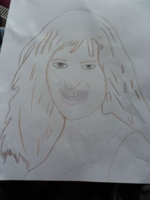 My Drawing of Ms Lea Michele!<3