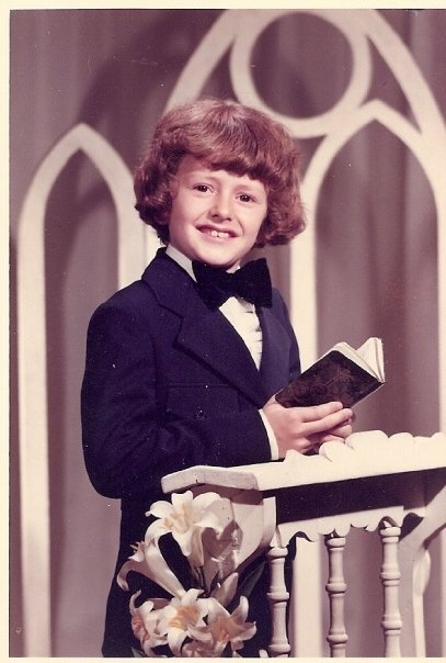 My Mon Oncle Marc, at his first communion.