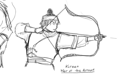 A sketch from the Korean movie (which Netflix lists as Japanese) War of the Arrows. The others are bleh