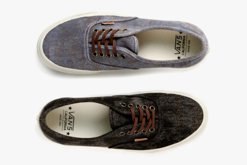 "streetmarketstore:  Vans California 2012 Spring/Summer ""Stained"" Authentic CA http://bit.ly/LxXXYU"