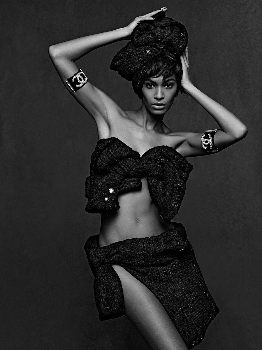 Joan Smalls Photographed by Karl Lagerfeld for The Little Black Jacket: Chanel's Classic Revisited