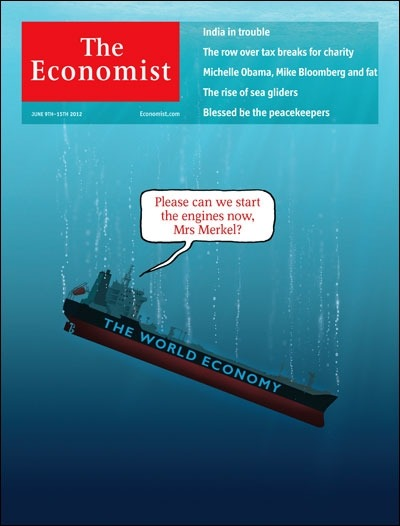 massimilianodeconca:  Andremo a fondo come il Titanic??? theeconomist:  Tomorrow's cover today: the world economy is in grave danger. A lot depends on one woman.