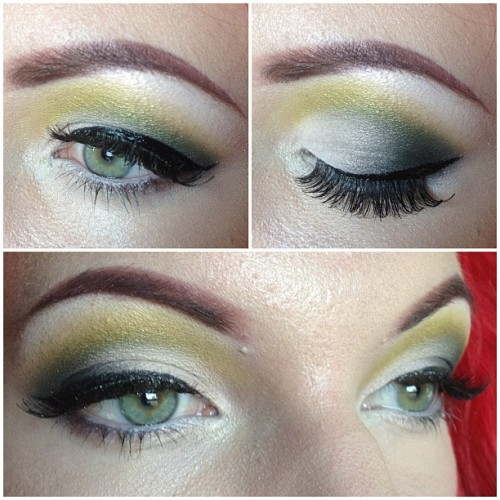 blackbirdartistry:  (MAC) hilight and lid: vanilla/vanilla pigment, crease: sharp (discontinued), outer corner: humid/carbon, liner: on the hunt, lashes: red cherry dw instagram: whitebuffalowoman (Taken with Instagram)