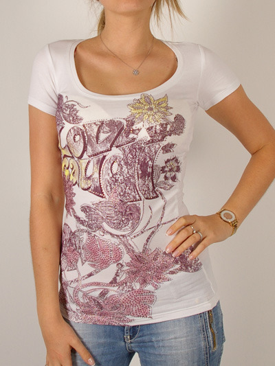 Gaudi Stylish T-Shirt for Women-WhiteMore photos & another fashion brands: bit.ly/JFl7l6