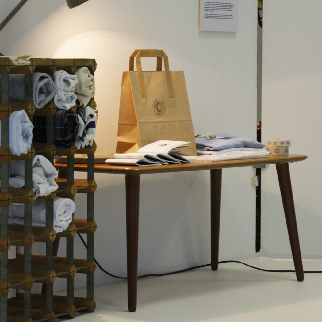 porkydesign:  Inga & Leif - Exhibition 2012. Some shots from my final year show which finished today. Clothing brand development final pieces.  Porky design work!