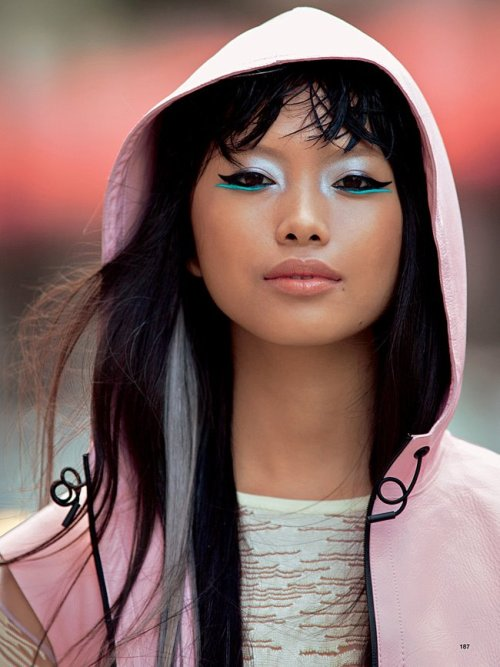 modelsofcolor:  Charlene Almarvez photographed by Hans Feurer for Glamour Italia June 2012.