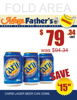 MegaMart's Father's Day promotion artwork - Print ad and shelf edge.