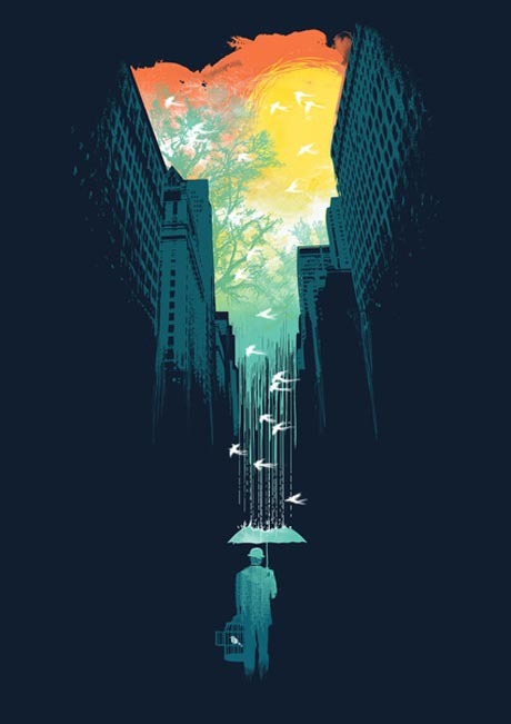 I Want My Blue Sky Standout illustration artwork by Budi Satria Kwan. Available as fine art print and different other print products here.