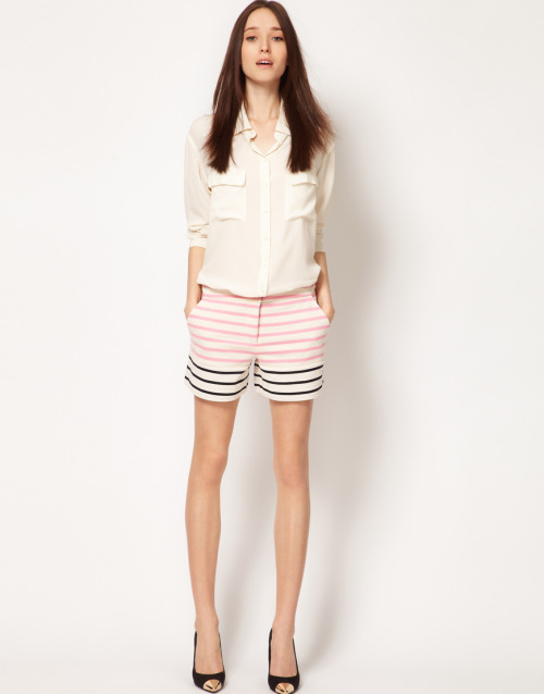 Markus Lupfer Stripe Panel ShortsMore photos & another fashion brands: bit.ly/K2YOV2
