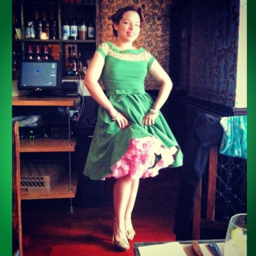 And this was my birthday dress. Thanks @Modcloth! I love it! Petticoat: Enz's, shoes: @MichaelKors. #cutegirl #retro (Taken with Instagram)
