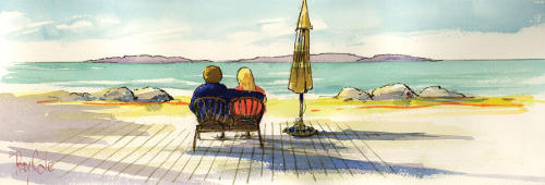 """Couple at the Beach"" by Ray Cole"