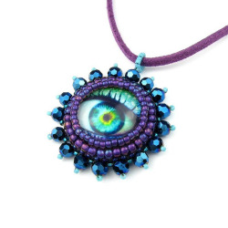 Prophesy Eye Pendant by TheCrimsonMoon on Flickr.Another of Liz's amazing pendants!