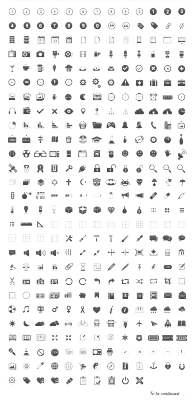 A set of 350 pixel perfect glyphs icons, perfect for apps, websites or just about anything you can think of.  via brankic1979